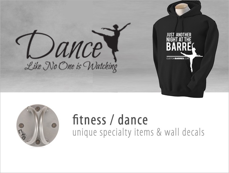 Shop fitness apperal, shop dance apperal, speacialty fitness items