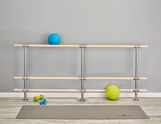 Custom Barres Triple Floor Mounted Fitness Barre - Purchase Barres for Fitness