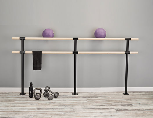 Custom Barres Classix Duo Floor Mounted Ballet Bar