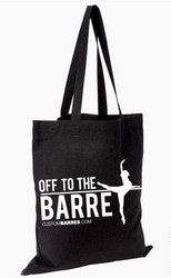"""OFF TO THE BARRE""  Ballerina Tote Bag / Barre Fitness Tote Bag"
