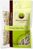 Gourmet Organic Fennel Seed 30g Sachet x 1