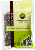 Gourmet Organic Pepper Black Cracked 40gSachet x 1
