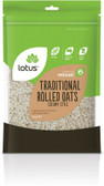 Lotus Organic Traditional Rolled Oats 1Kg