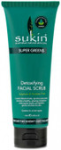 Sukin Super Greens Detoxifying Facial Scrub 125ml Tub