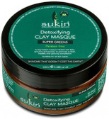 Sukin Super Greens Detoxifying Clay Masque 100ml Tub