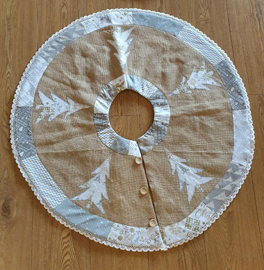 Gold Christmas Tree Skirt. These look great as mats also.
