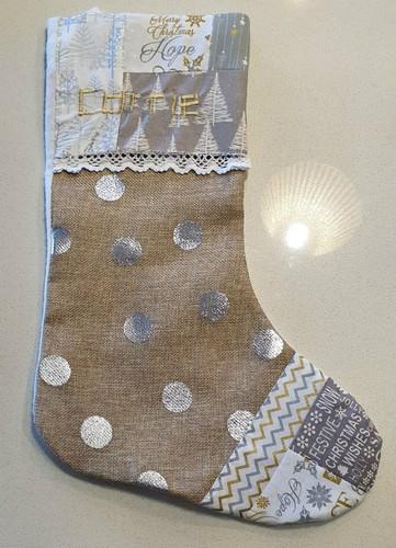Hand Crafted Santa Stocking