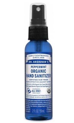 Dr Bronner's Hand Sanitizer kills 99.9% germs