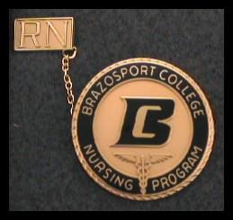 Brazosport College Supreme Nursing Pin