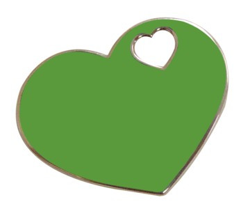 Delta Zeta Green Epoxy Heart