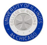"""1"""" UIC Nursing Pin"""