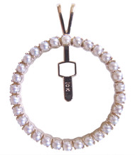 Pearl Pierced Badge Pendant