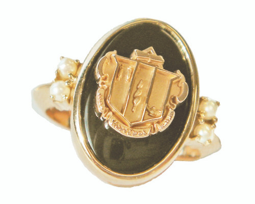 Delta Zeta Antique Ring