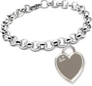 DZ Engravable Heart Tag Bracelet