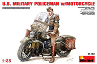 Miniart Models - US Military Policeman w/Motorcycle