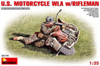 Miniart Models - US Motorcycle WLA w/Rifleman