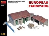 Miniart Models - European Farmyard Building, Storage Shed & Accessories