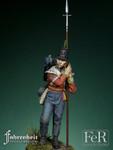 FeR Miniatures: Faherenheit Miniature Project - 28th Regiment of Foot Sergeant, Quatre Brass, 1815