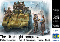 Masterbox Models - 101th Light Company Paratroopers & British Tankers, France 1944