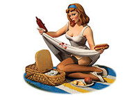 Andrea Miniatures: Pinup Series - Mind the Ketchup