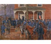 The Art of Don Triani - Sherman Leaving the Henegar House, December 1, 1863