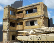 Dioramas Plus - Three Story Ruined Apartment Building