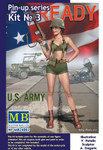 Masterbox Models - Alice, US Army Pin-Up Girl Standing Holding Rifle