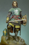Andrea Miniatures: Classics In 90MM - Medieval Knight, 1300