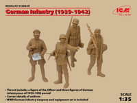 ICM Models - WWII German Infantry (4) w/Weapons & Equipment, 1939-41