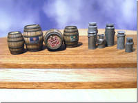 Reality in Scale Beer Barrels & Milk Churns
