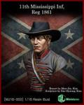 MJ Miniatures 11st Mississippi Inf, Reg 1861