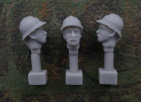 Jon Smith Modellbau - French Head – Adrian Helmet M1915 and Beard