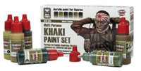 Andrea Miniatures - Khaki Paint Set