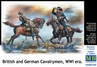 Masterbox Models - WWI British & German Fighting Cavalrymen