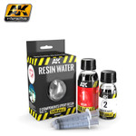 AK Interactive Diorama Series: Resin Water 2-Part Components Epoxy for Clear Water Effect