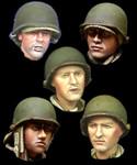 Alpine Miniatures - WW2 US Infantry Head Set