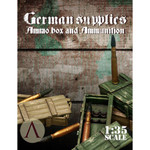 Scale 75 - German supplies ammo boxes and ammunition 1. 88 mm. For Tiger tank