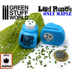 Green Stuff World Miniature Leaf Punch MEDIUM BLUE - Maple
