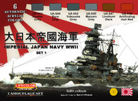 Lifecolor - Imperial Japan Navy WWII Set #1 Acrylic Set
