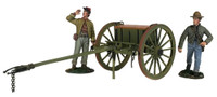 Wm. Britain: American Civil War: Confederate Light Artillery Limber With Two Man Crew