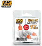 AK Interactive - Mix N' Ready 17ml Empty Bottles w/Stainless Steel Shaker Ball