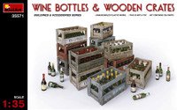 Miniart Models - Wine Bottles & Wooden Crates