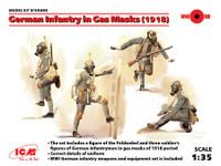 ICM Models - WWI German Infantry in Gas Masks, 1918