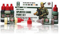Andrea Miniatures - Splinter Camo Paint Set