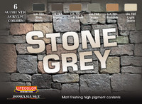 Lifecolor -Stone Grey Diorama Acrylic Set