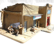 Dioramas Plus - Shorted Out in Iraq Ruined Building w/Sidewalks & Rubble