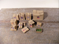 Reality In Scale - Cardboard Boxes - 12 resin pcs. with Decals