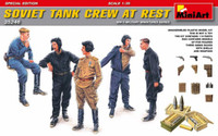 Miniart Models - Soviet Tank Crew at Rest w/weapons & ammo boxes