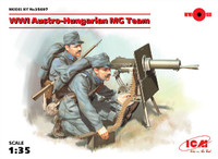 ICM Models - WWI Austro-Hungarian MG Team (2) w/Schuarzlose M07/12 MG, Weapons & Equipment