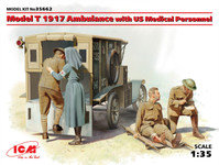 ICM Models - Model T 1917 Ambulance with US Medical Personnel